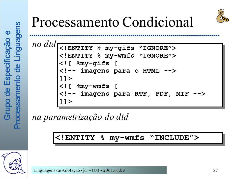 Processamento Condicional