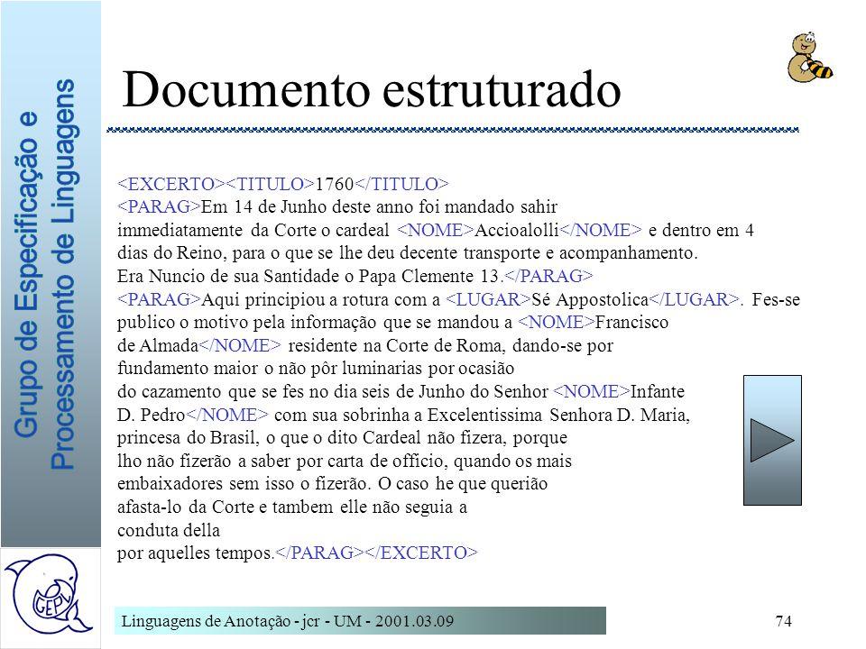 Documento estruturado