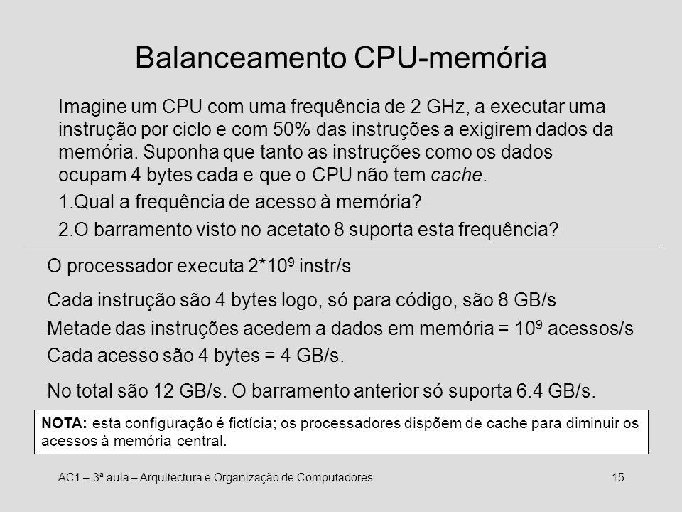 Balanceamento CPU-memória