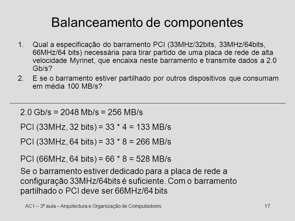 Balanceamento de componentes