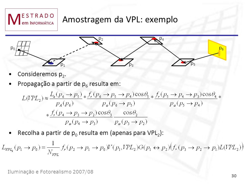 Amostragem da VPL: exemplo