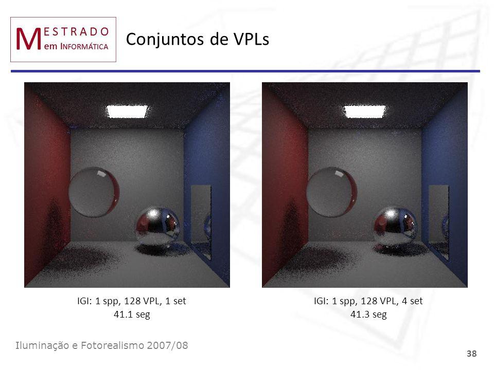 Conjuntos de VPLs IGI: 1 spp, 128 VPL, 1 set 41.1 seg