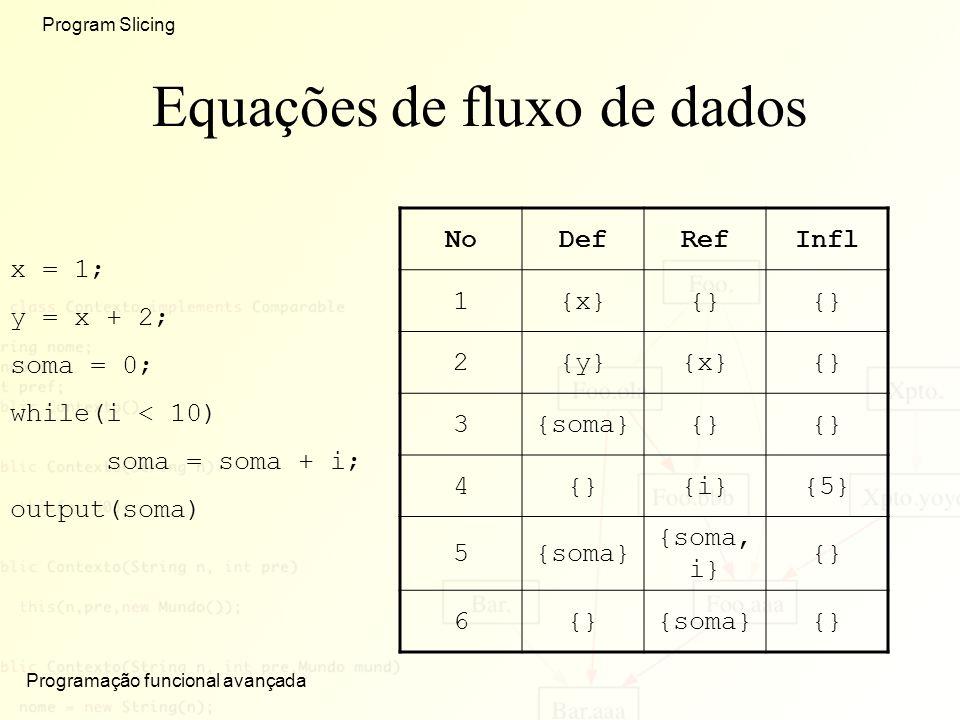 Equações de fluxo de dados