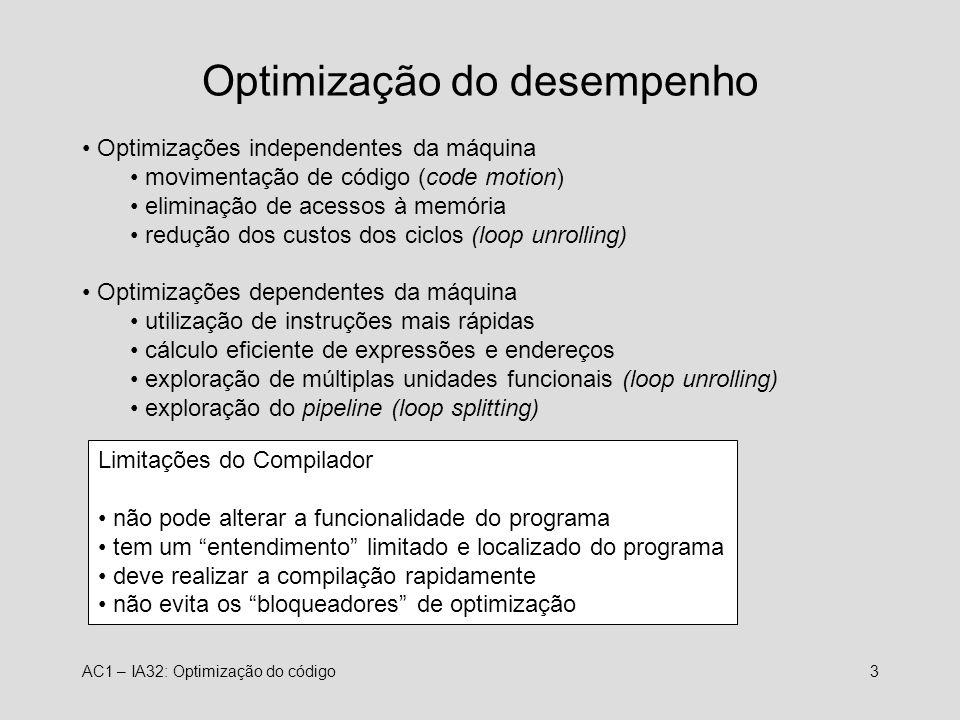 Optimização do desempenho