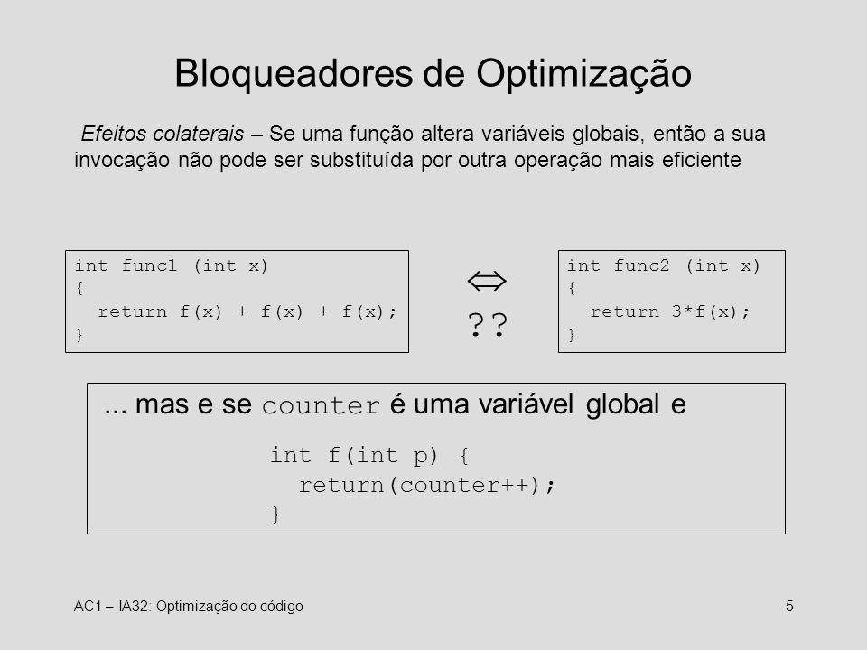 Bloqueadores de Optimização