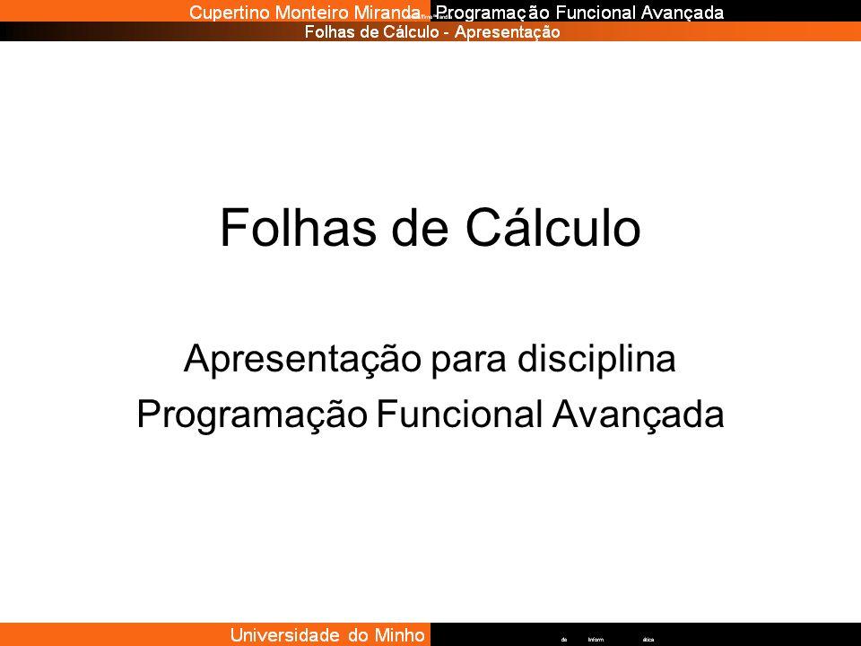 Apresentação para disciplina Programação Funcional Avançada