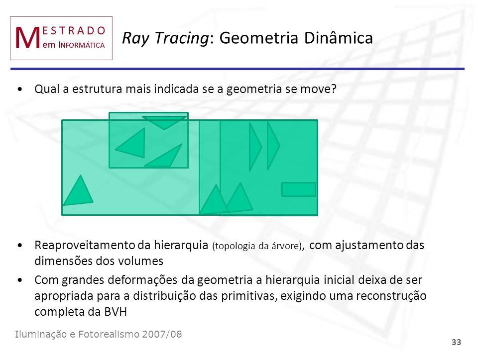 Ray Tracing: Geometria Dinâmica