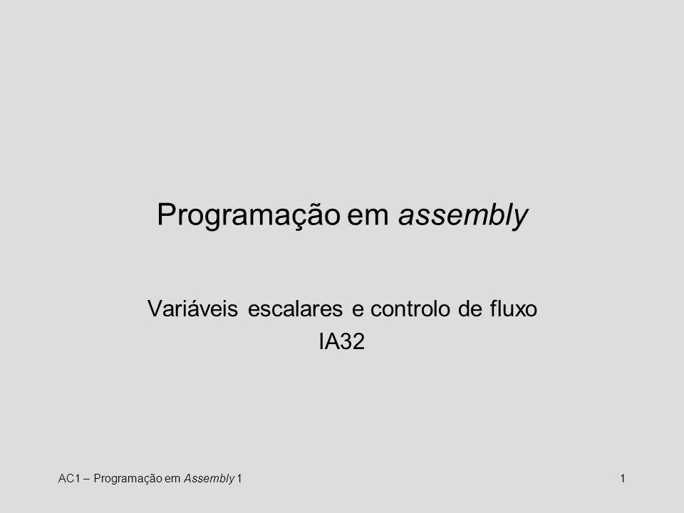 Programação em assembly