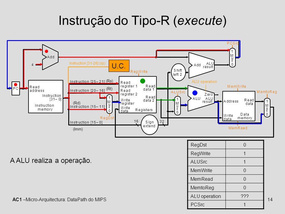 Instrução do Tipo-R (execute)