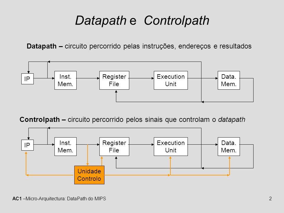 Datapath e Controlpath