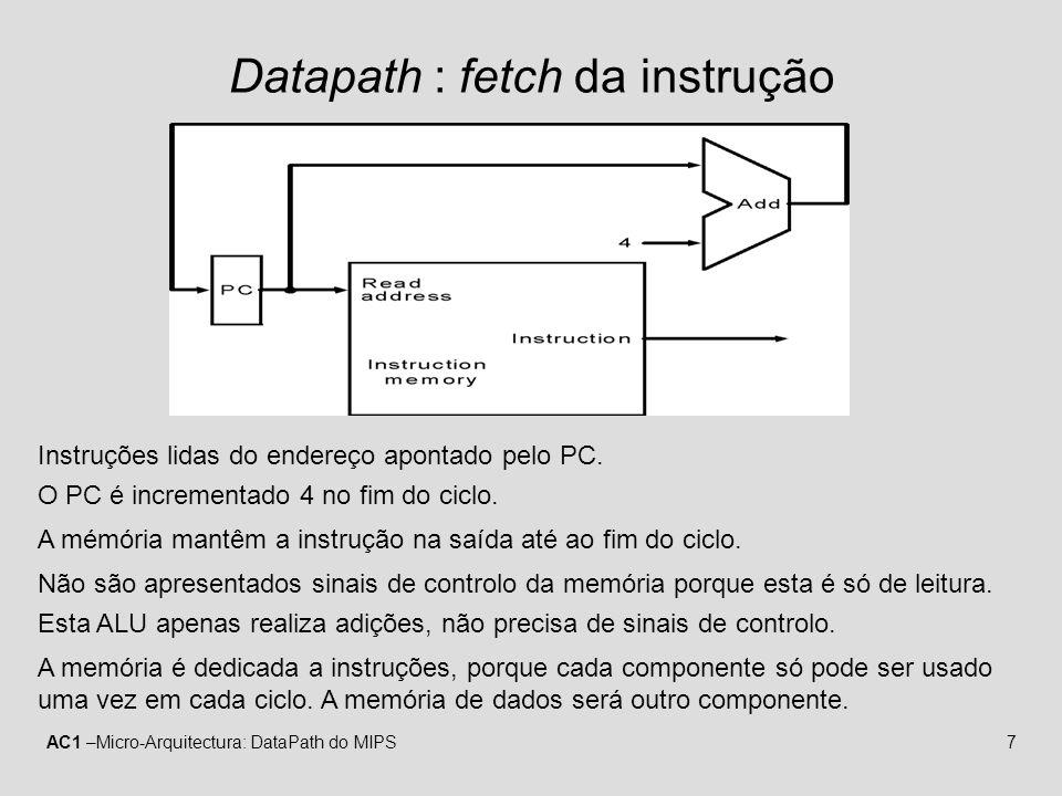 Datapath : fetch da instrução