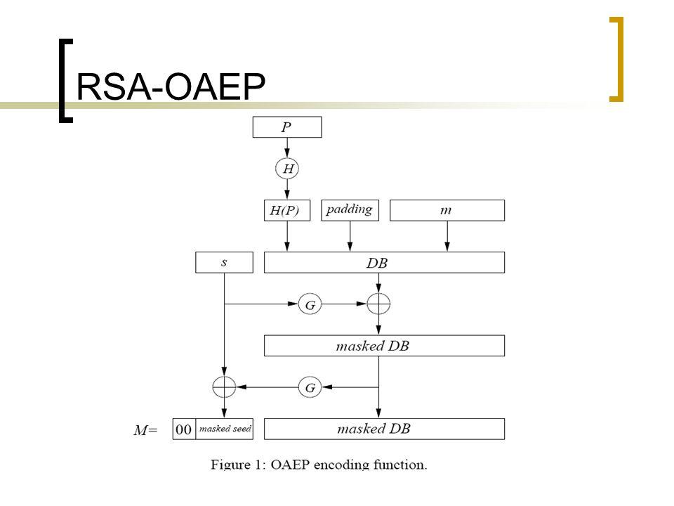 RSA-OAEP 1. Cifra. B faz o seguinte: