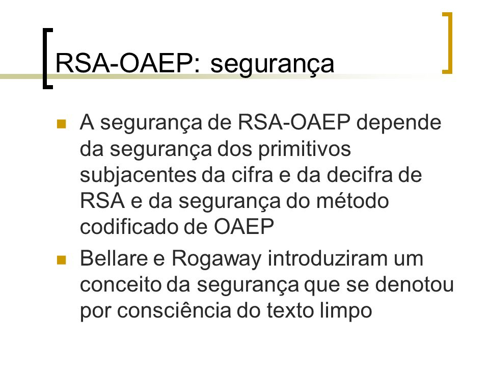 RSA-OAEP: segurança