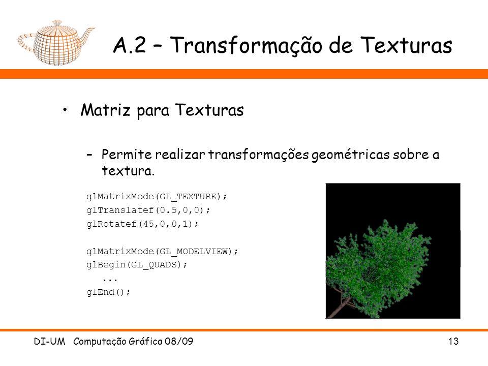A.2 – Transformação de Texturas