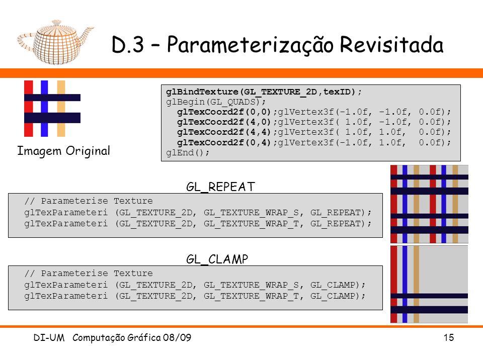 D.3 – Parameterização Revisitada
