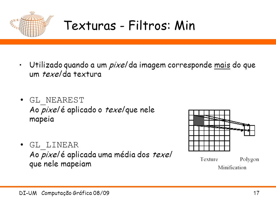 Texturas - Filtros: Min