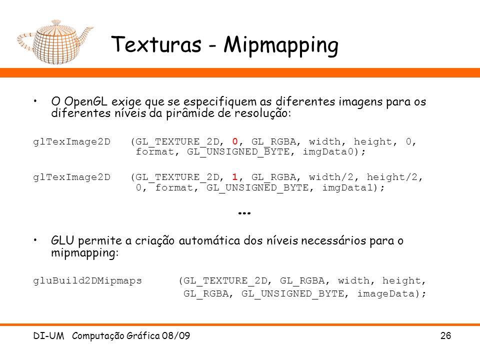 Texturas - Mipmapping …