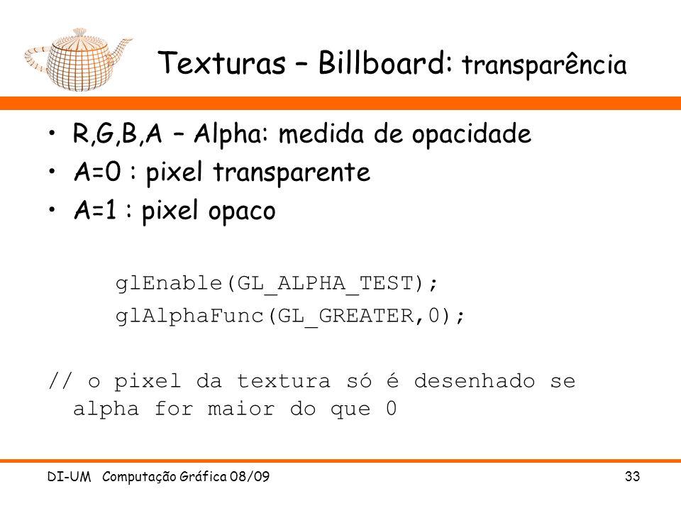Texturas – Billboard: transparência