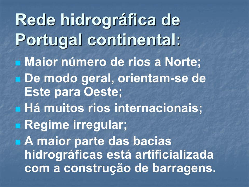 Rede hidrográfica de Portugal continental: