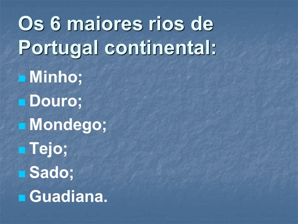 Os 6 maiores rios de Portugal continental: