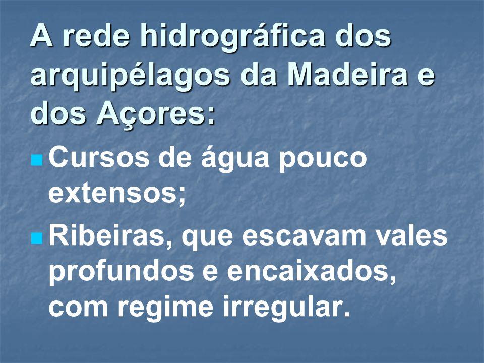 A rede hidrográfica dos arquipélagos da Madeira e dos Açores: