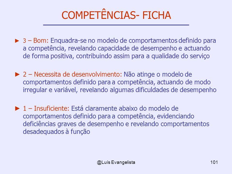 COMPETÊNCIAS- FICHA