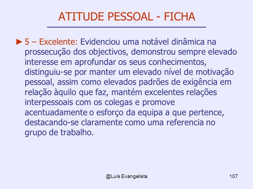 ATITUDE PESSOAL - FICHA