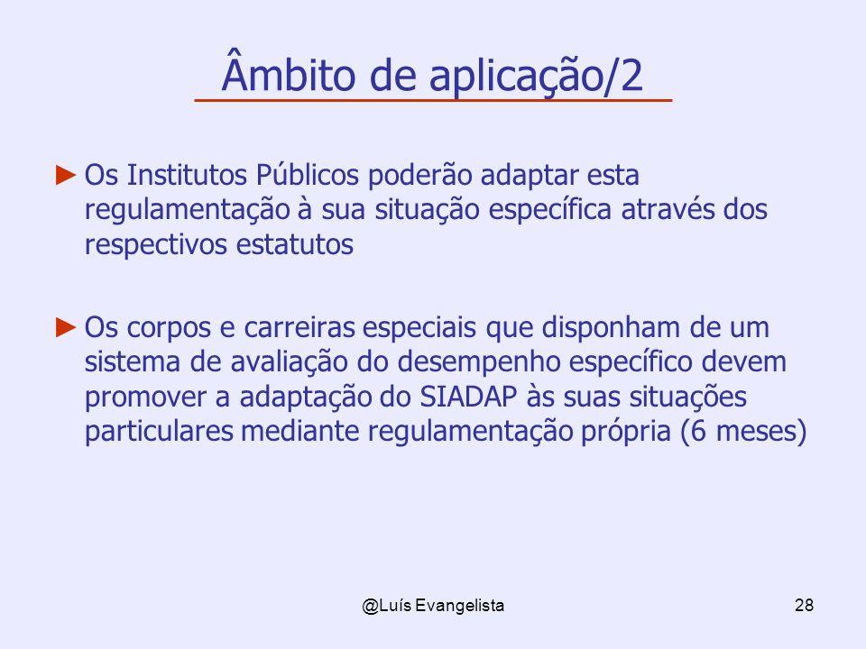 Âmbito de aplicação/2 Os Institutos Públicos poderão adaptar esta regulamentação à sua situação específica através dos respectivos estatutos.