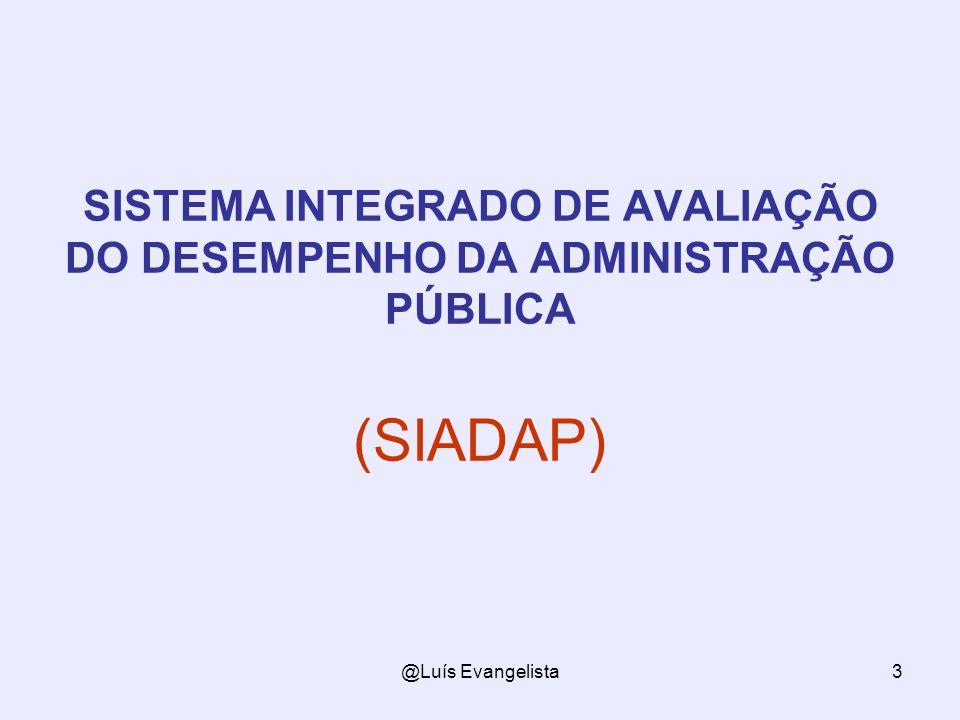 SISTEMA INTEGRADO DE AVALIAÇÃO DO DESEMPENHO DA ADMINISTRAÇÃO PÚBLICA (SIADAP)