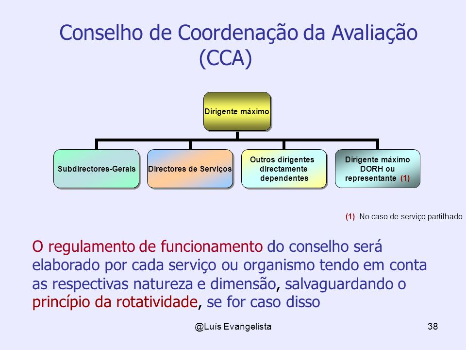 Conselho de Coordenação da Avaliação (CCA)