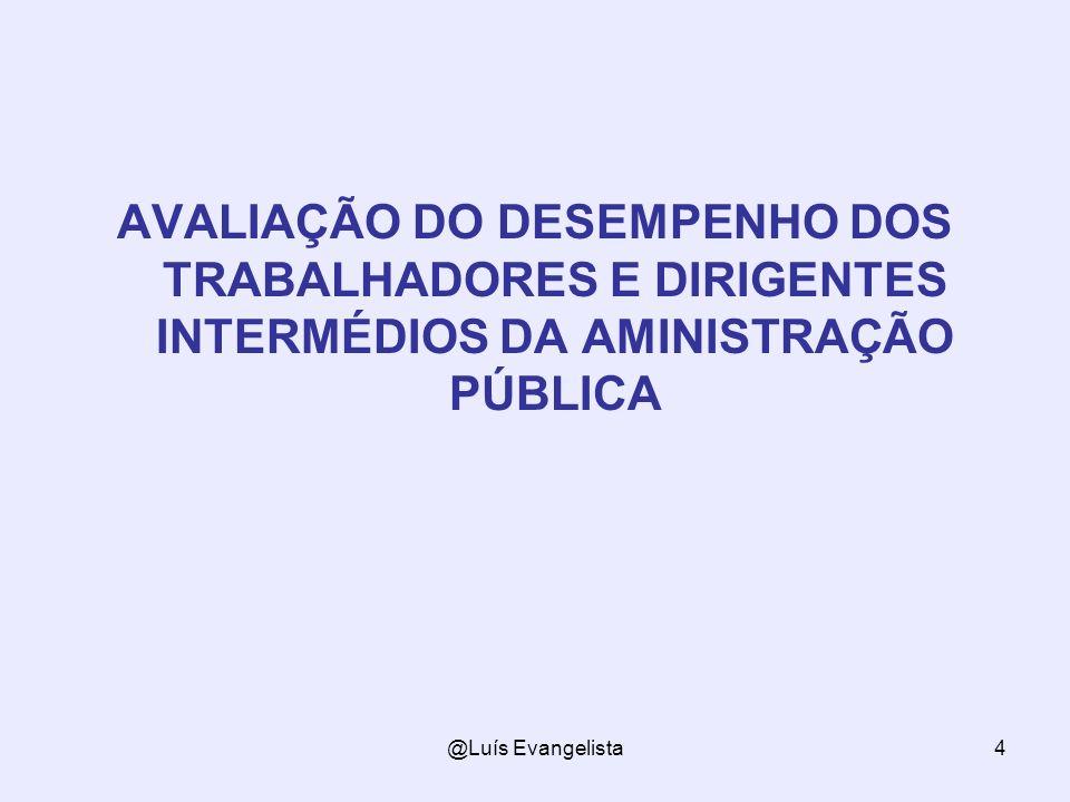 AVALIAÇÃO DO DESEMPENHO DOS TRABALHADORES E DIRIGENTES INTERMÉDIOS DA AMINISTRAÇÃO PÚBLICA