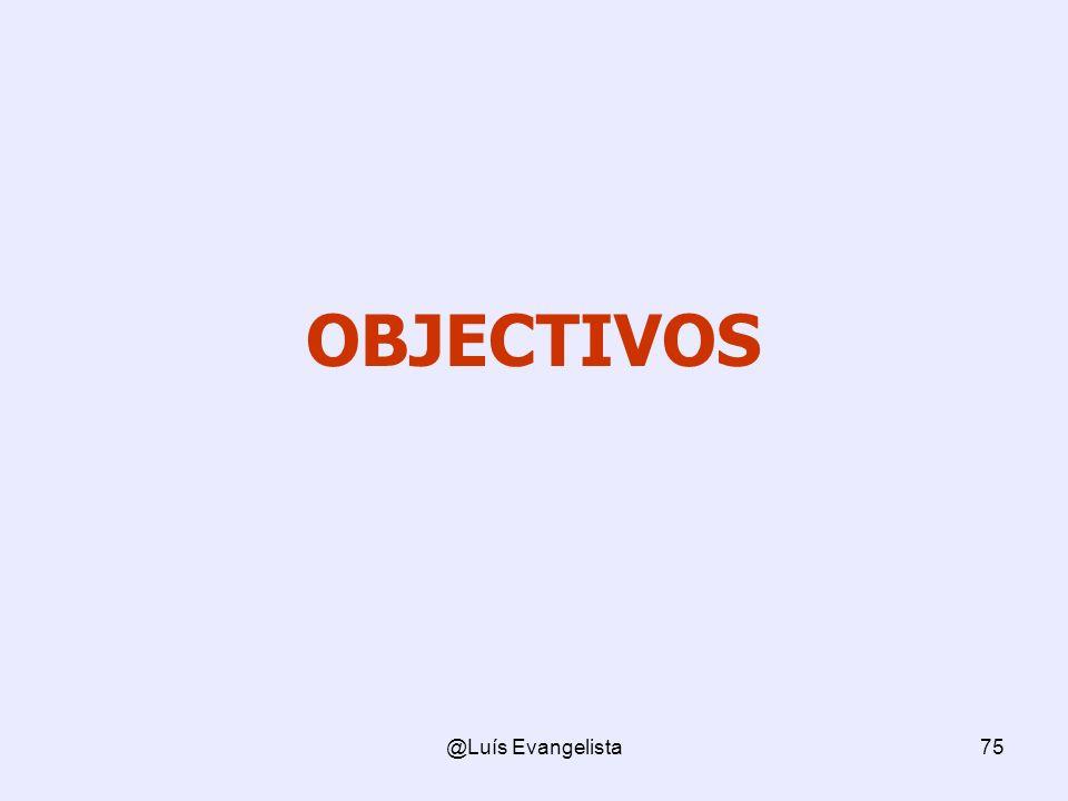 OBJECTIVOS @Luís Evangelista