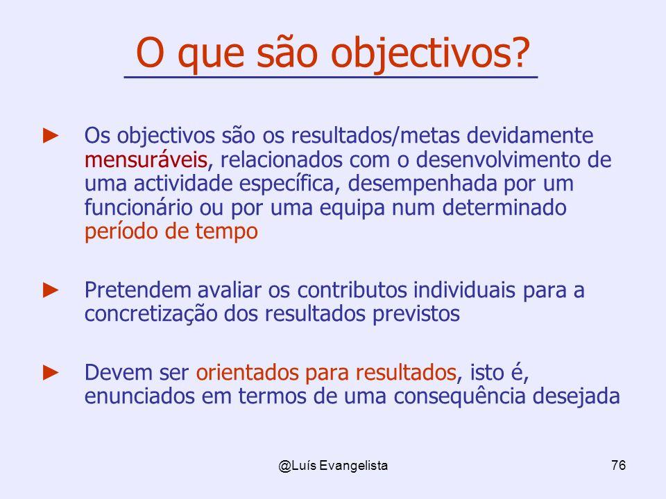 O que são objectivos