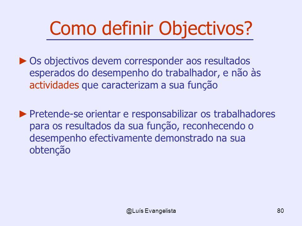 Como definir Objectivos