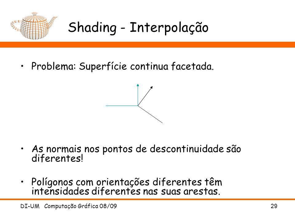 Shading - Interpolação