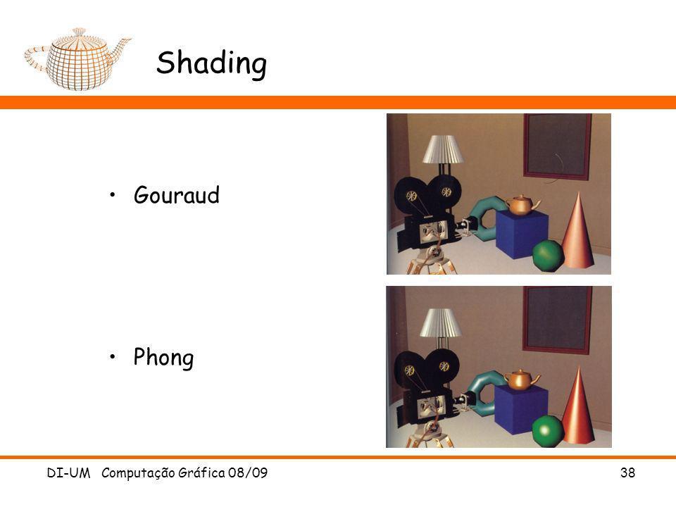 Shading Gouraud Phong DI-UM Computação Gráfica 08/09