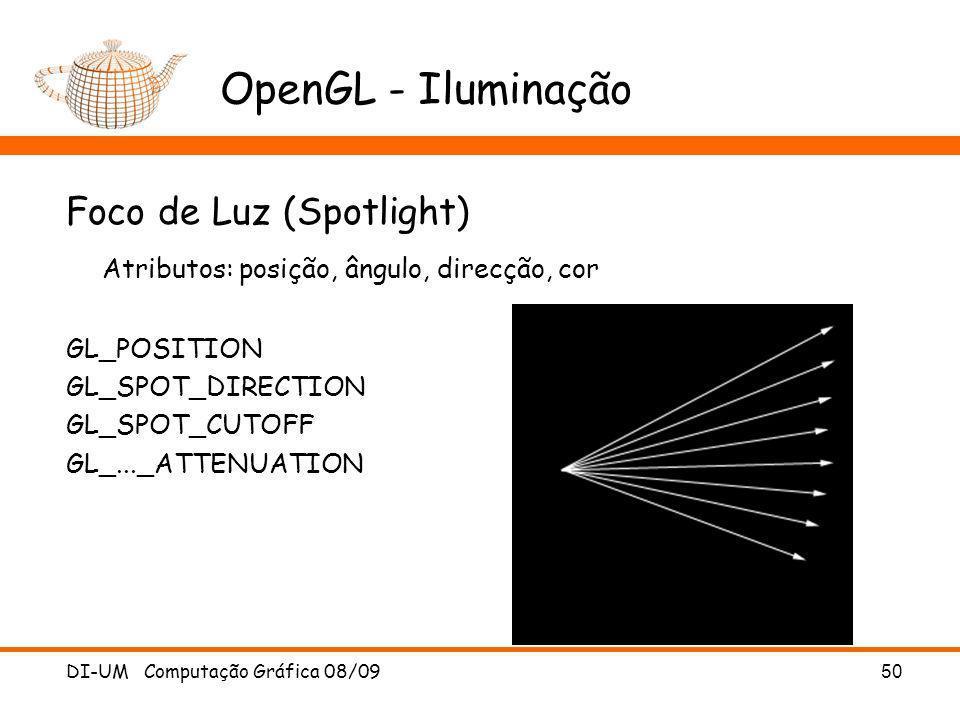 OpenGL - Iluminação Foco de Luz (Spotlight)