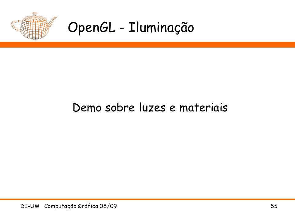 Demo sobre luzes e materiais