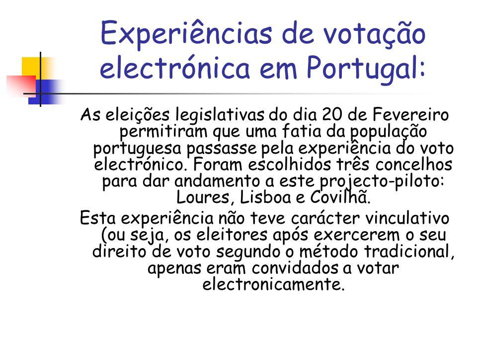 Experiências de votação electrónica em Portugal: