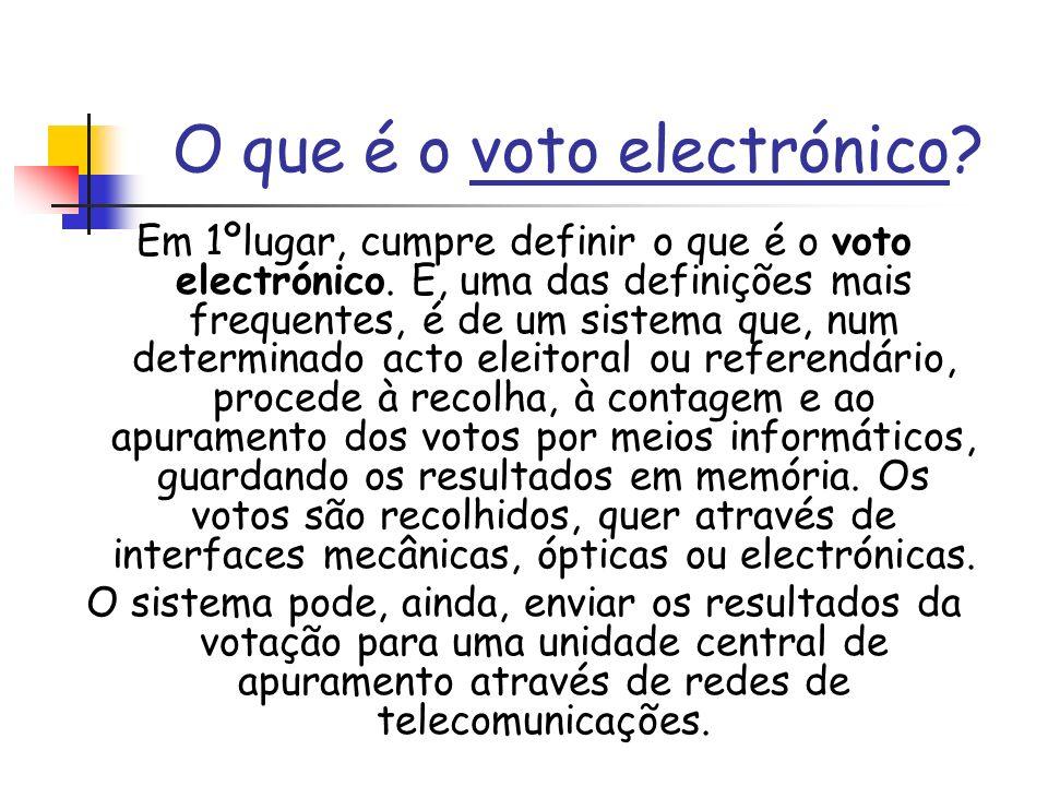 O que é o voto electrónico