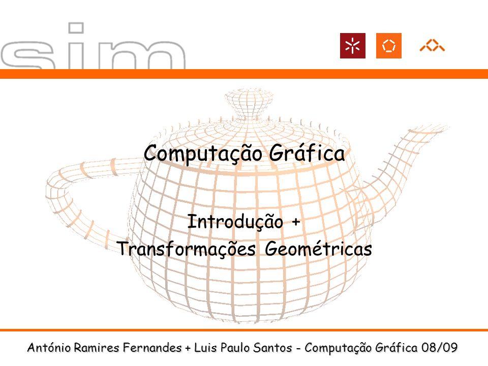 Introdução + Transformações Geométricas