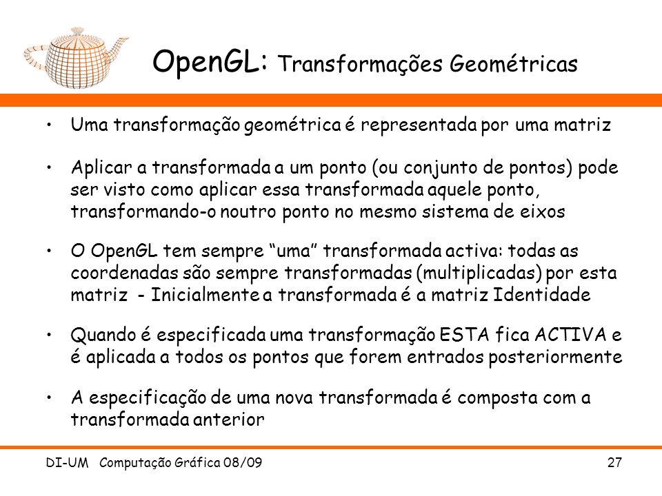 OpenGL: Transformações Geométricas