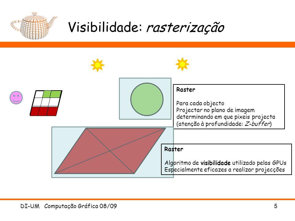 Visibilidade: rasterização