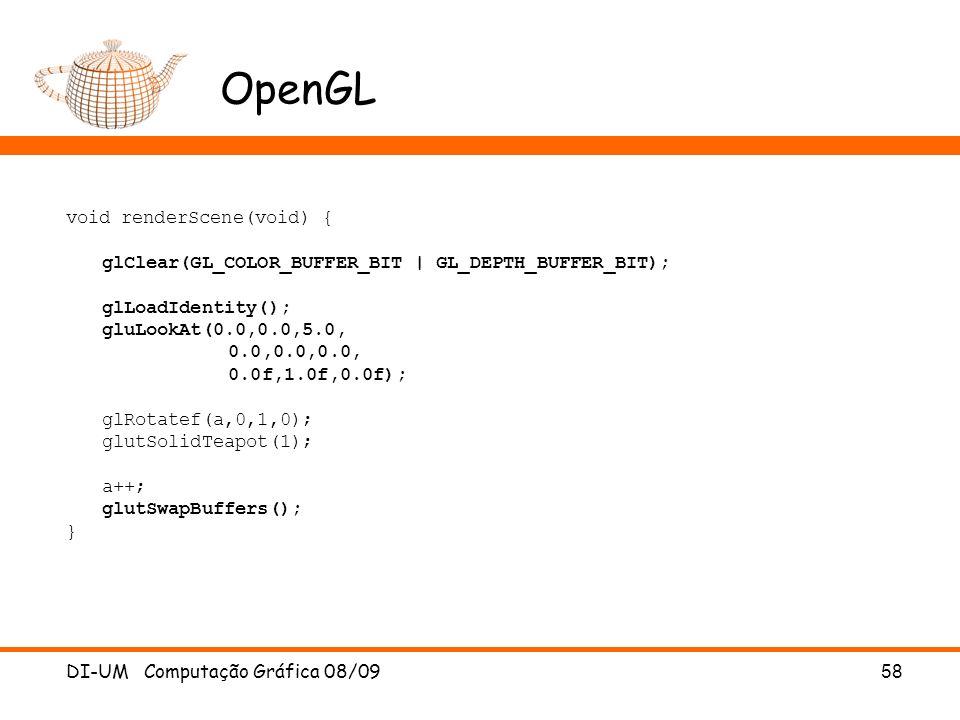 OpenGL void renderScene(void) {