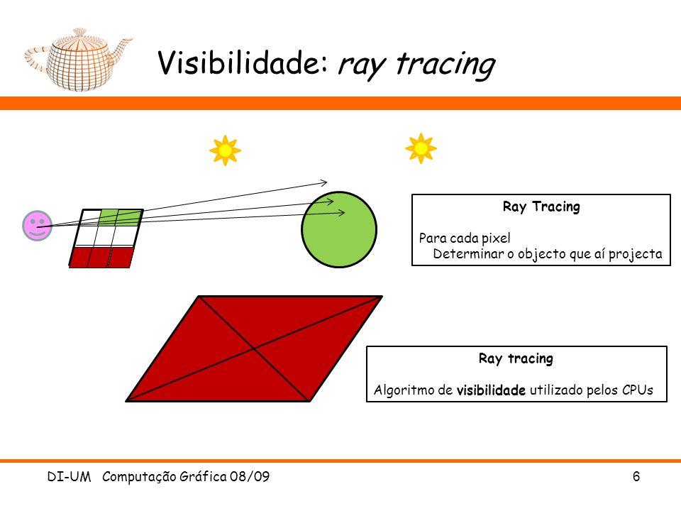 Visibilidade: ray tracing
