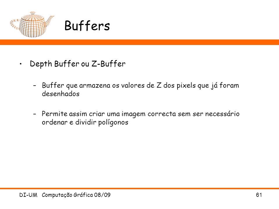 Buffers Depth Buffer ou Z-Buffer