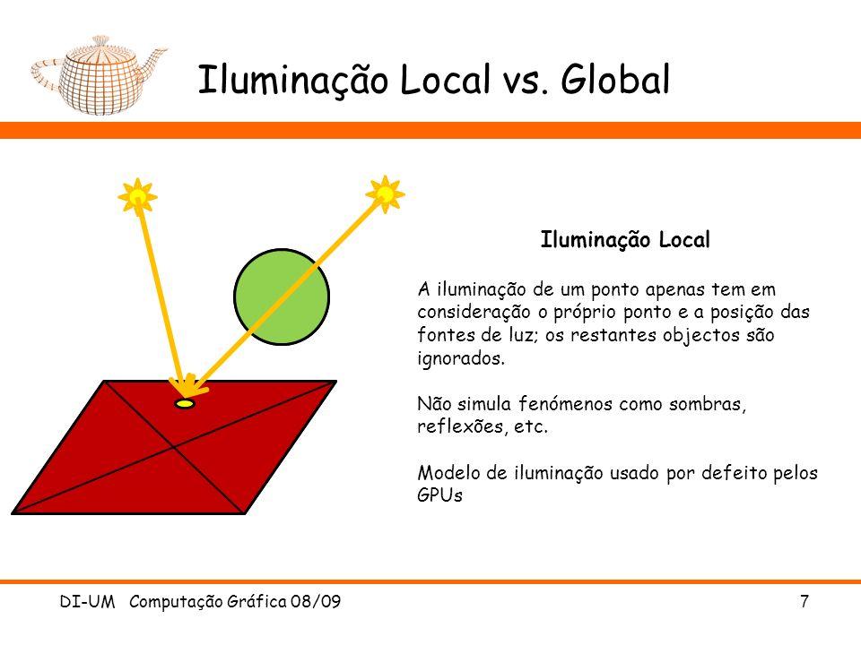 Iluminação Local vs. Global