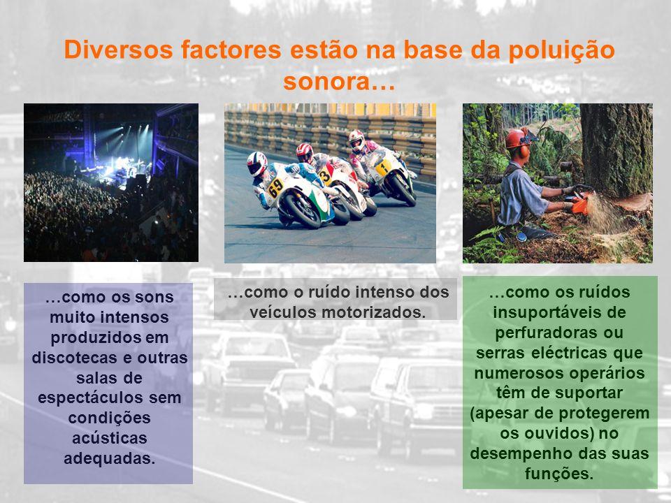 Diversos factores estão na base da poluição sonora…