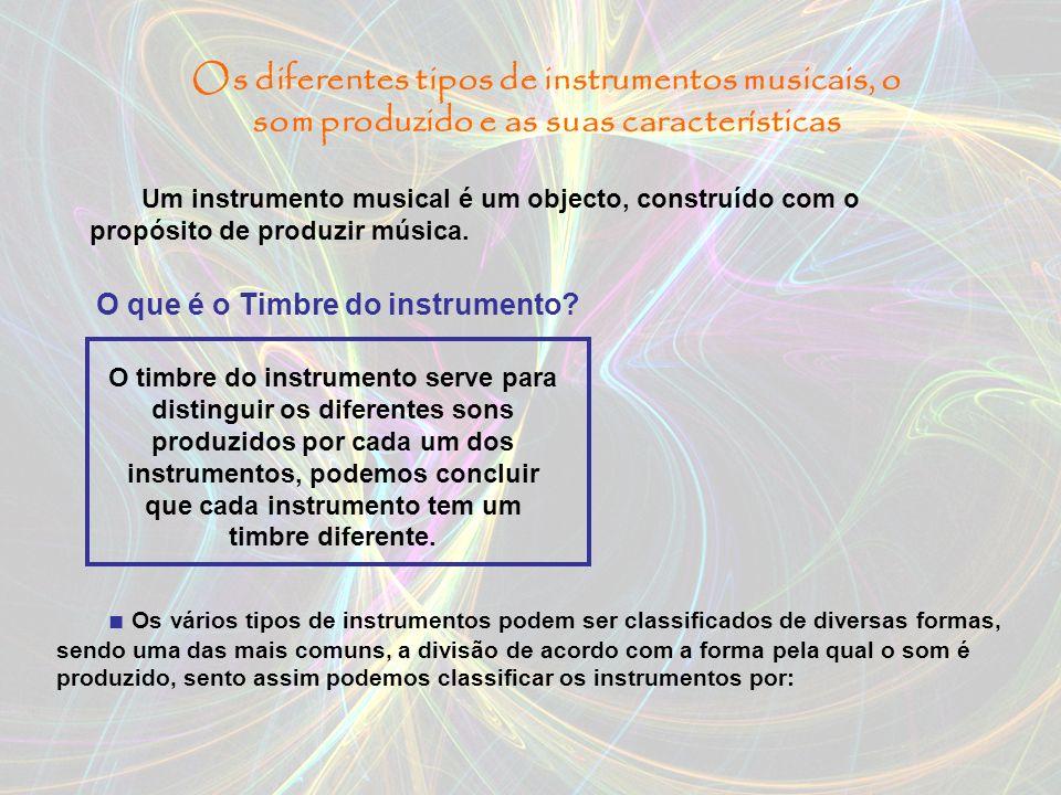 O que é o Timbre do instrumento