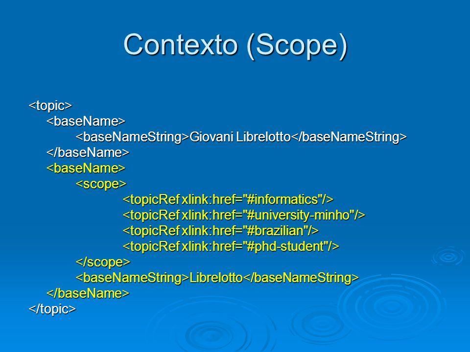 Contexto (Scope) <topic> <baseName>